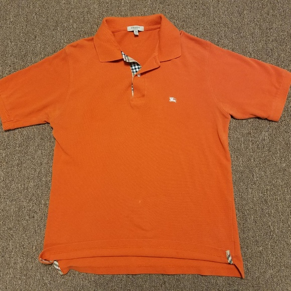 5c0efb3d Burberry Shirts | London Orange Polo Shirt Small | Poshmark